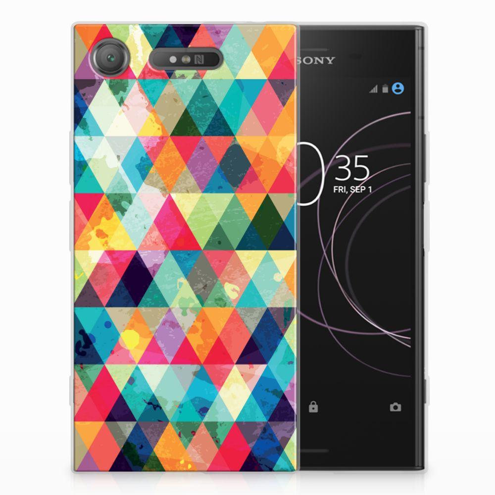 Sony Xperia XZ1 Uniek TPU Hoesje Geruit