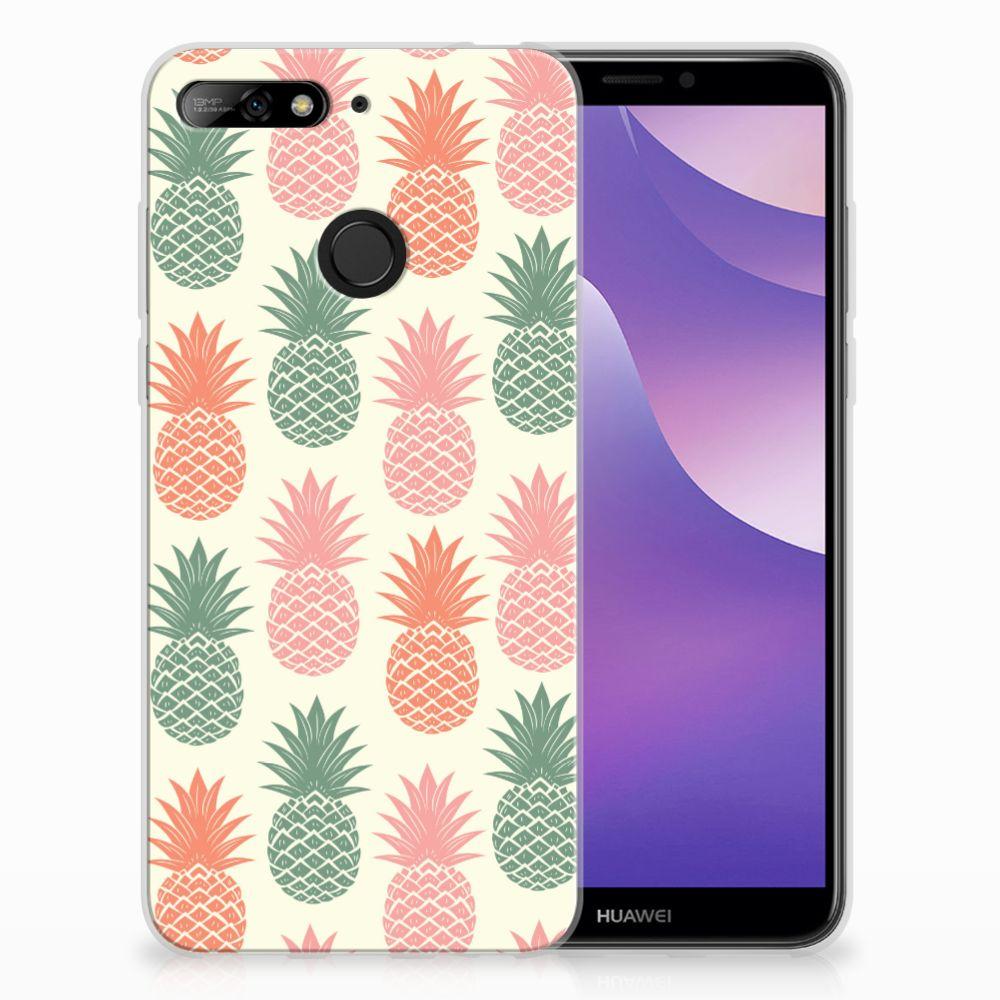 Huawei Y6 (2018) TPU Hoesje Design Ananas
