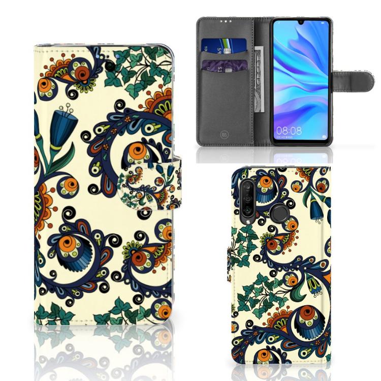 Wallet Case Huawei P30 Lite (2020) Barok Flower