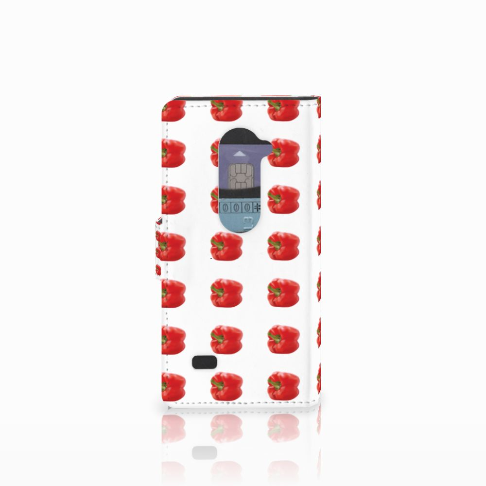 LG Leon 4G Book Cover Paprika Red