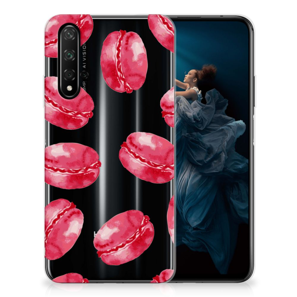 Honor 20 Siliconen Case Pink Macarons