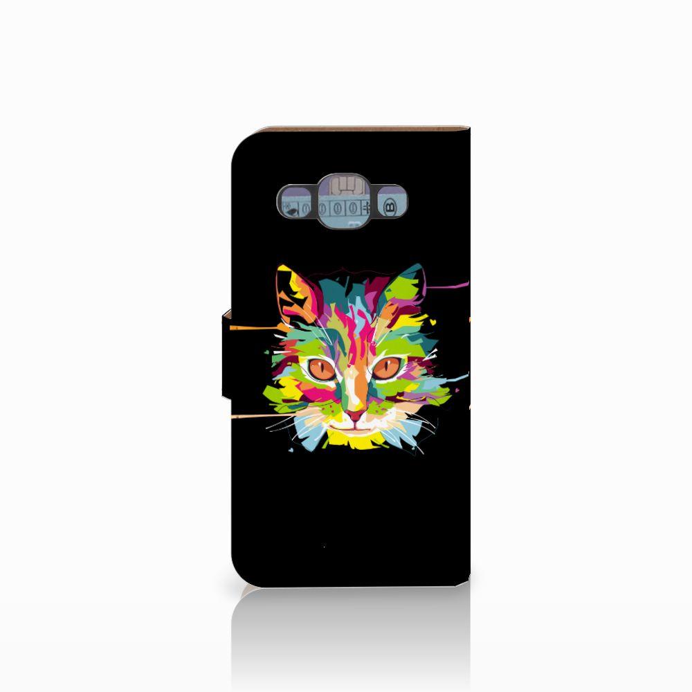 Samsung Galaxy E5 Leuke Hoesje Cat Color