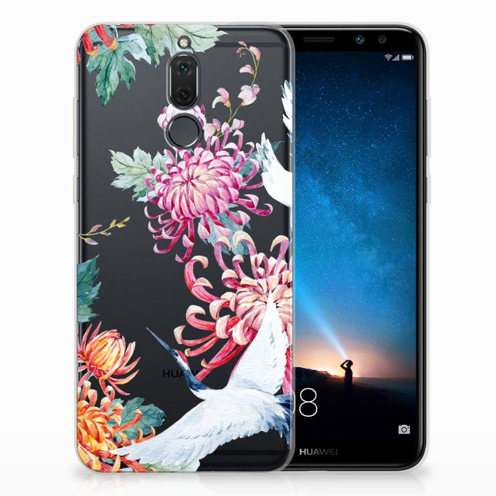 Huawei Mate 10 Lite TPU Hoesje Bird Flowers