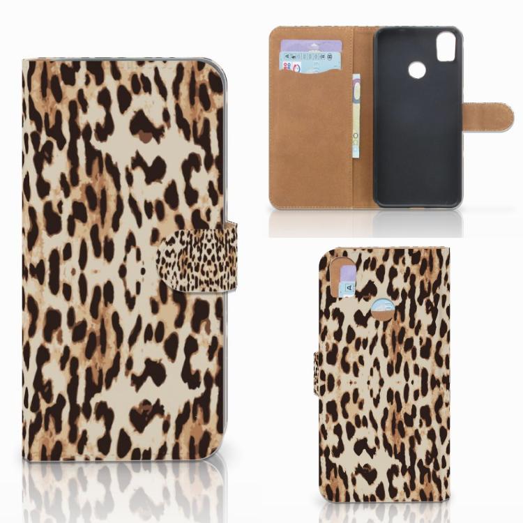 HTC Desire 10 Pro Telefoonhoesje met Pasjes Leopard