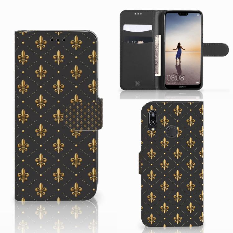 Huawei P20 Lite Telefoon Hoesje Franse Lelie