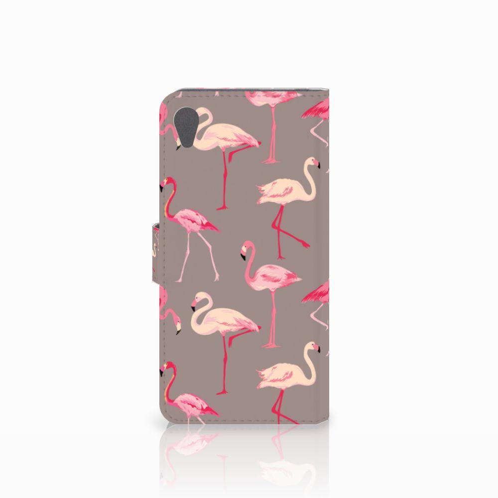 Sony Xperia Z5 Premium Telefoonhoesje met Pasjes Flamingo