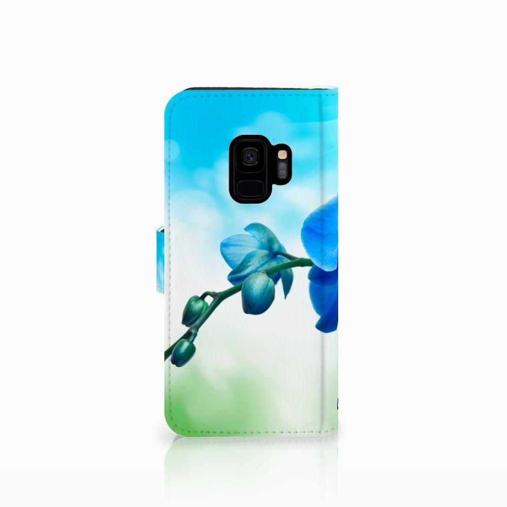 Samsung Galaxy S9 Hoesje Orchidee Blauw