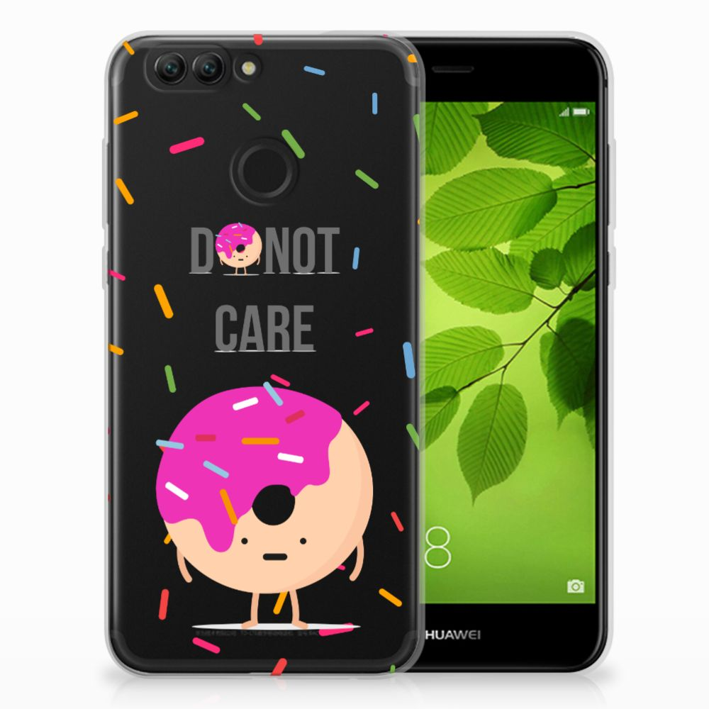 Huawei Nova 2 Siliconen Case Donut Roze