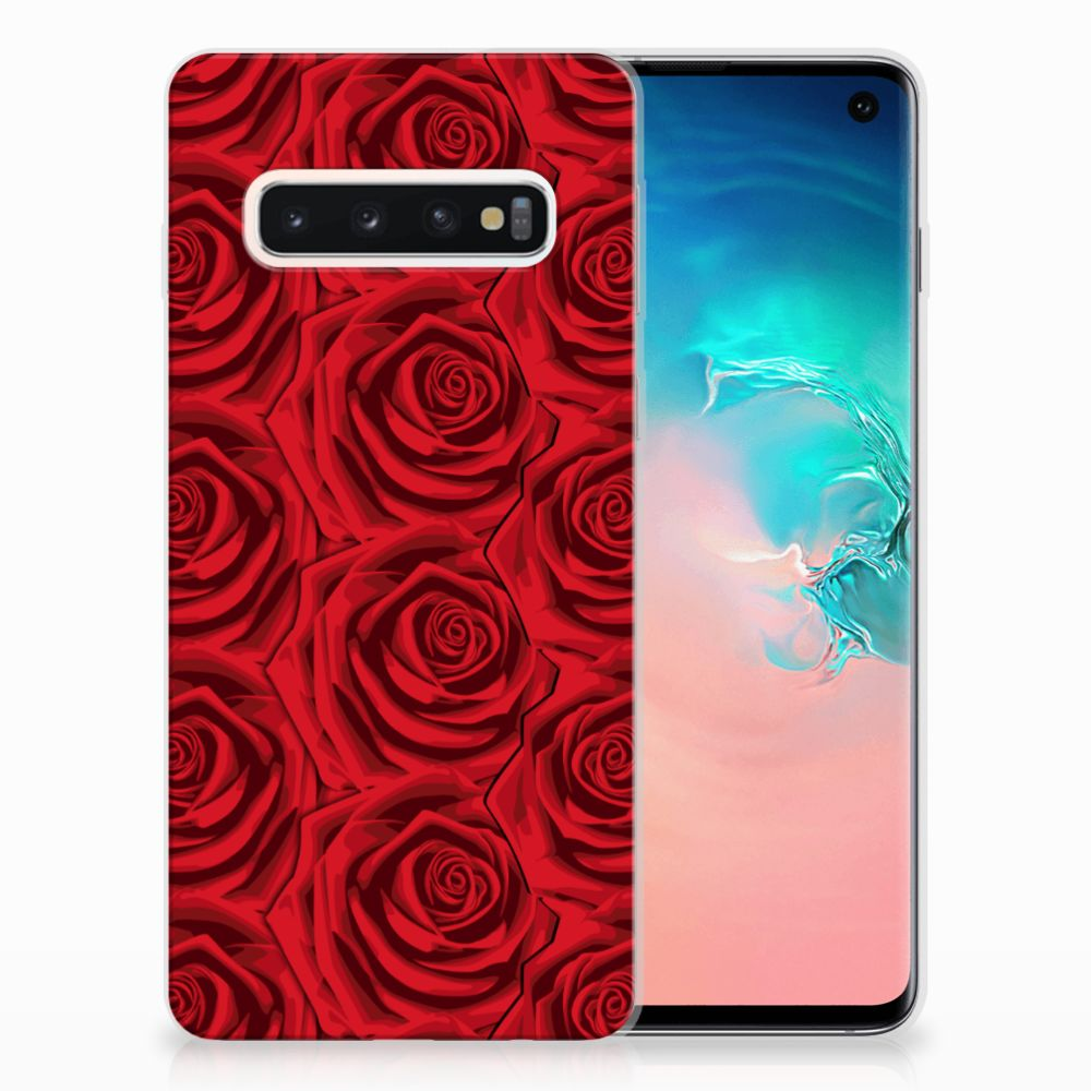 Samsung Galaxy S10 Uniek TPU Hoesje Red Roses