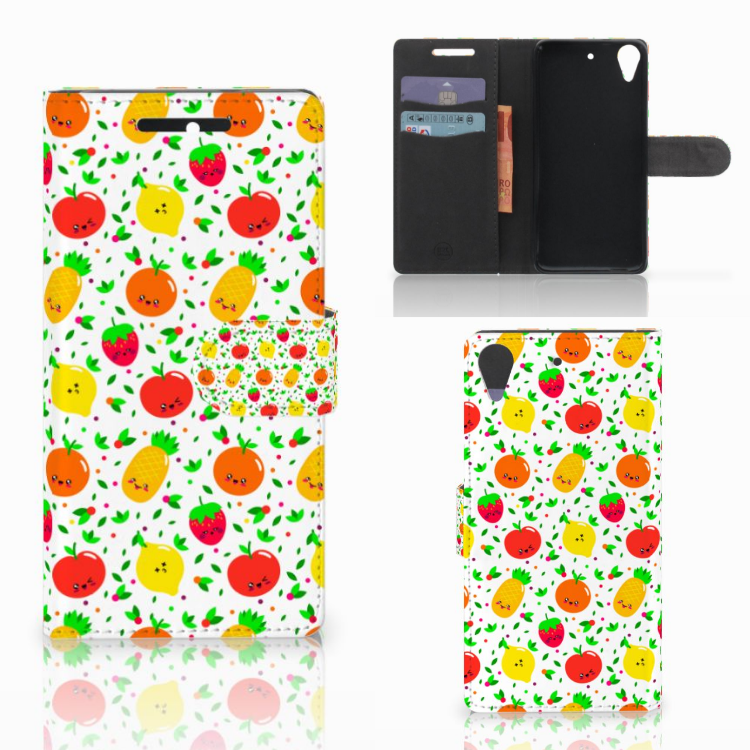 HTC Desire 628 Book Cover Fruits