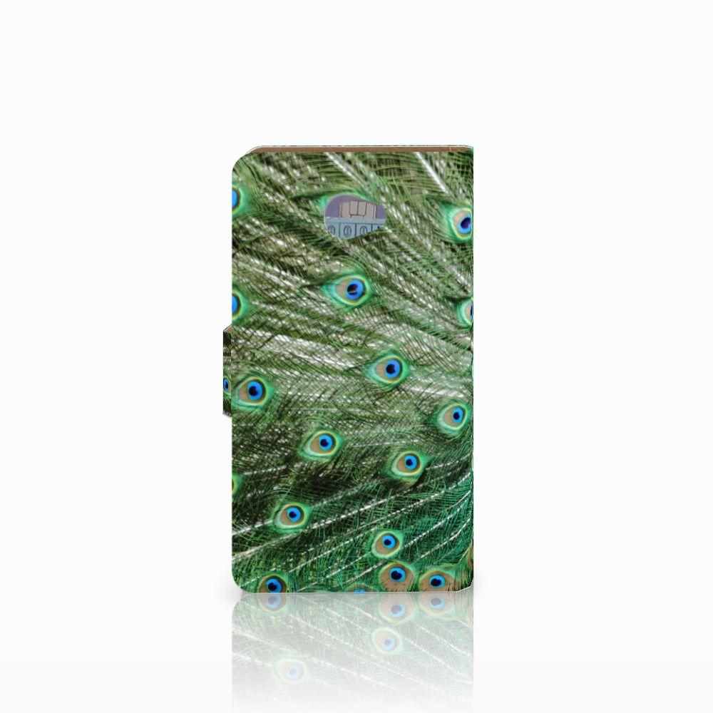 HTC Desire 601 Telefoonhoesje met Pasjes Pauw