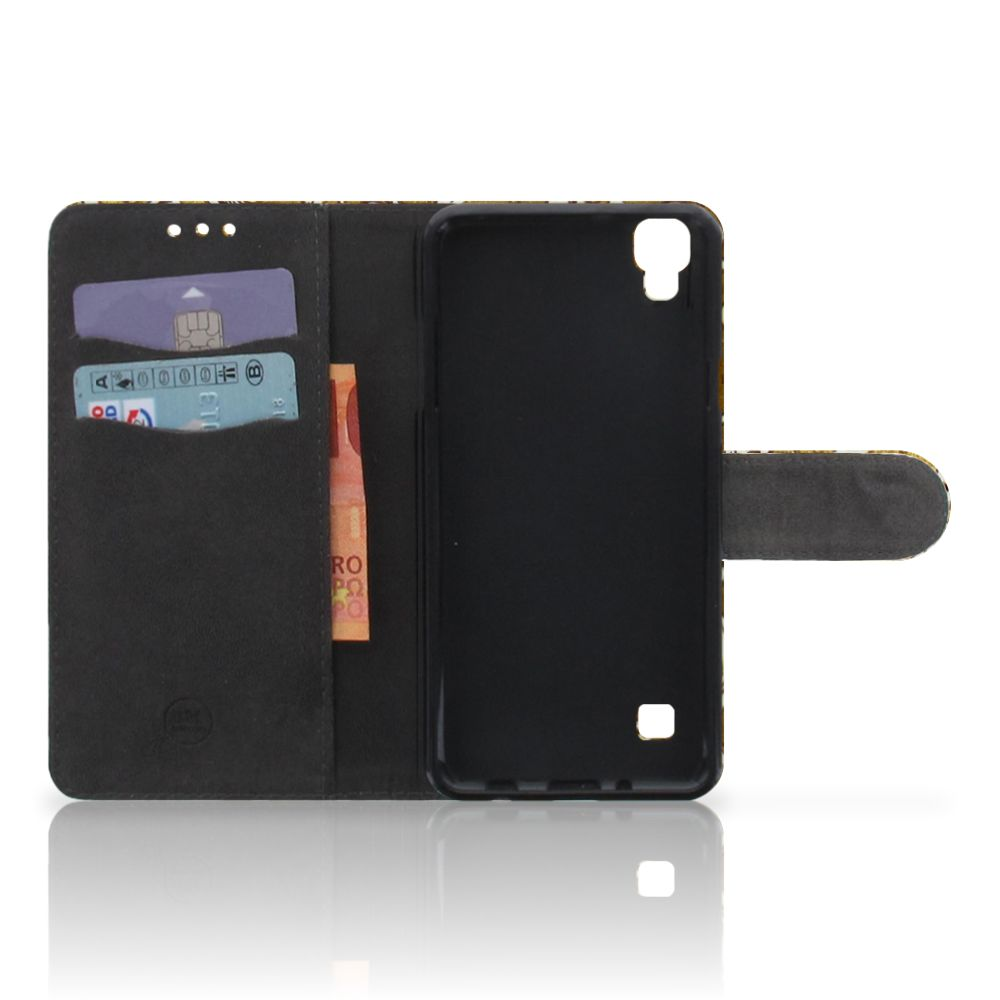 Wallet Case LG X Style Barok Goud