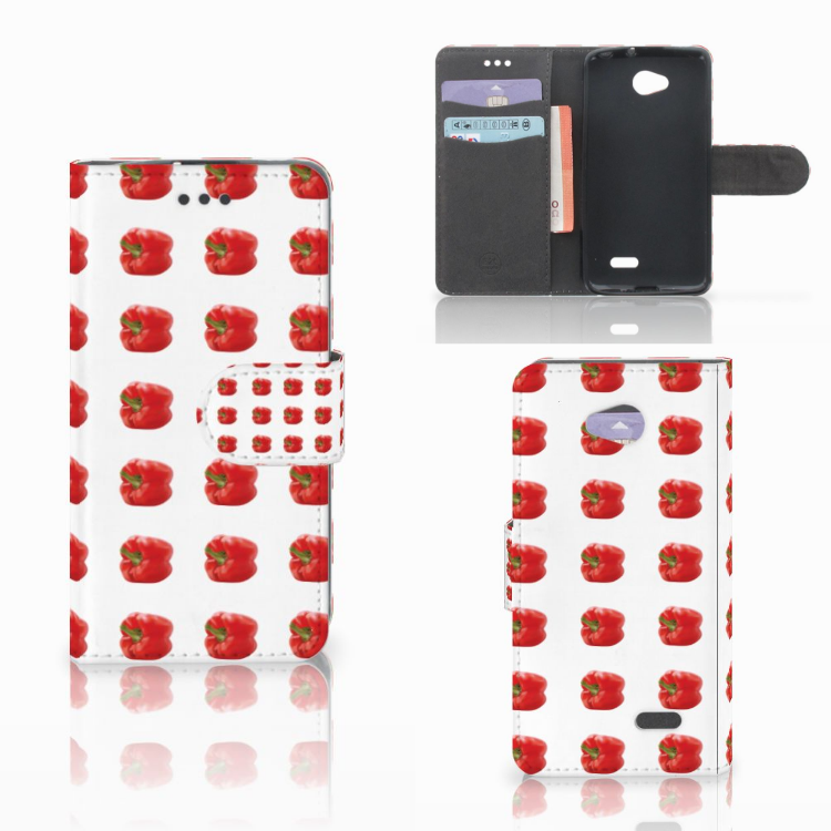 LG L70 Book Cover Paprika Red