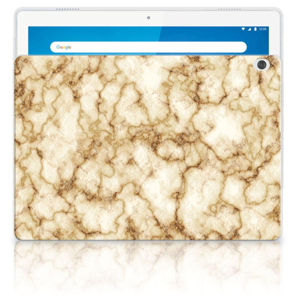 Lenovo Tab M10 Tablet Back Cover Marmer Goud