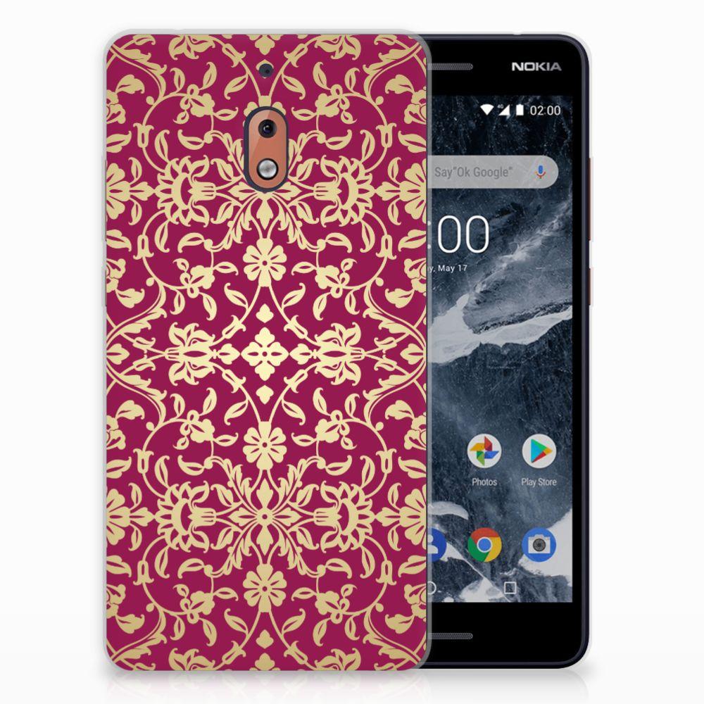 Nokia 2.1 (2018) TPU Hoesje Design Barok Pink