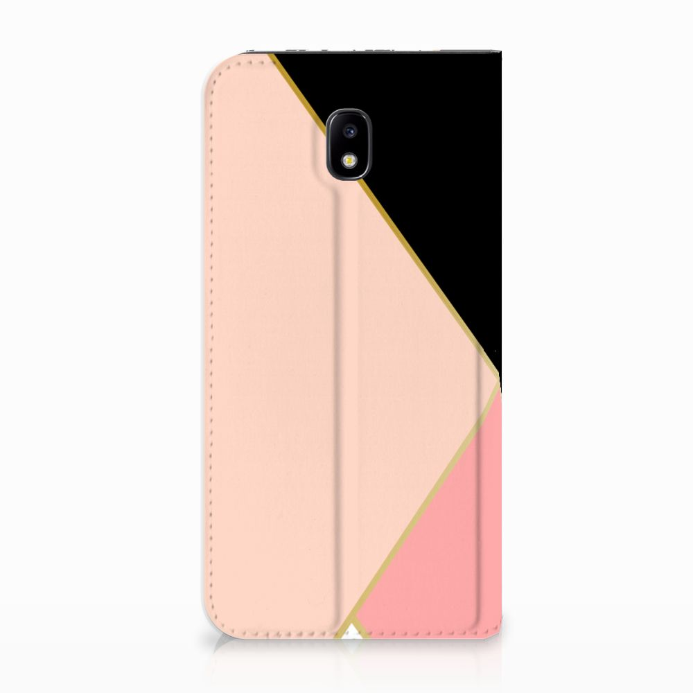 Samsung Galaxy J5 2017 Standcase Hoesje Black Pink Shapes
