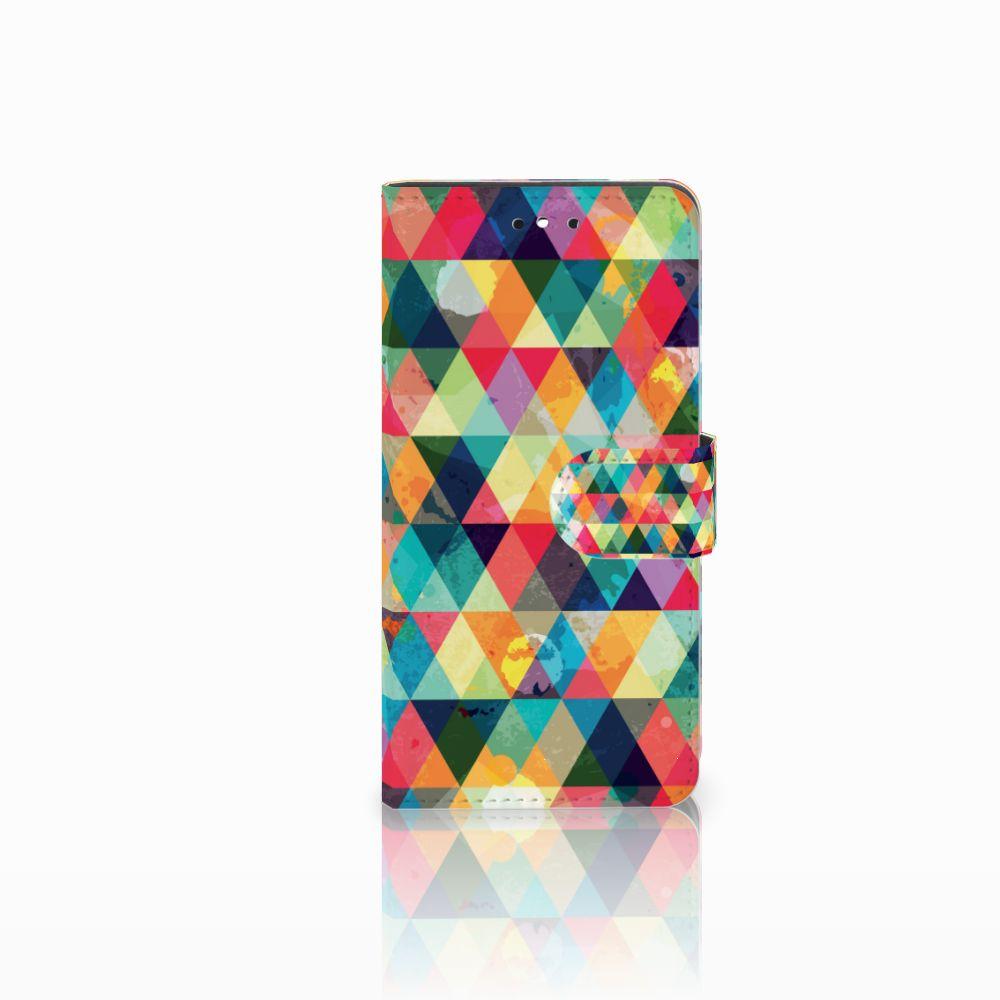 Huawei P8 Lite Smart (GR3) Uniek Boekhoesje Geruit
