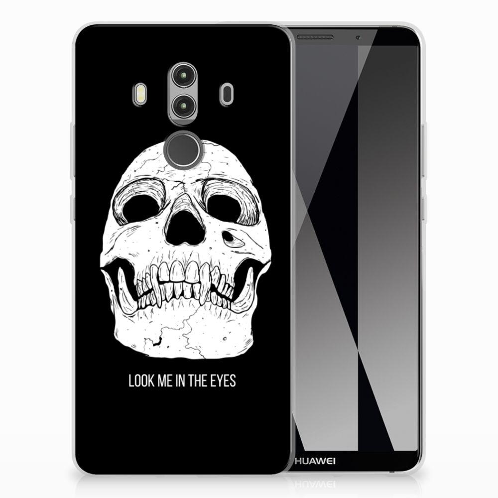 Silicone Back Case Huawei Mate 10 Pro Skull Eyes