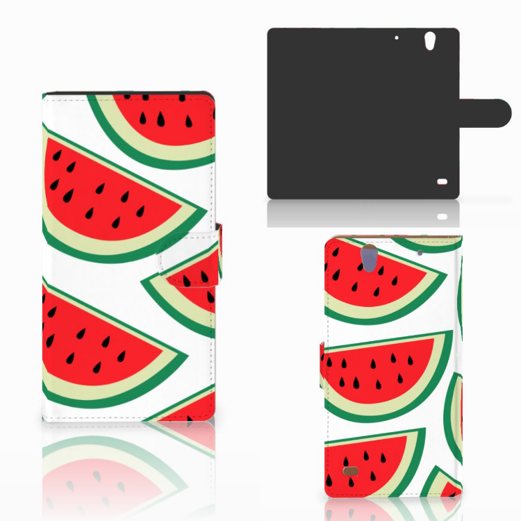 Sony Xperia C4 Book Cover Watermelons