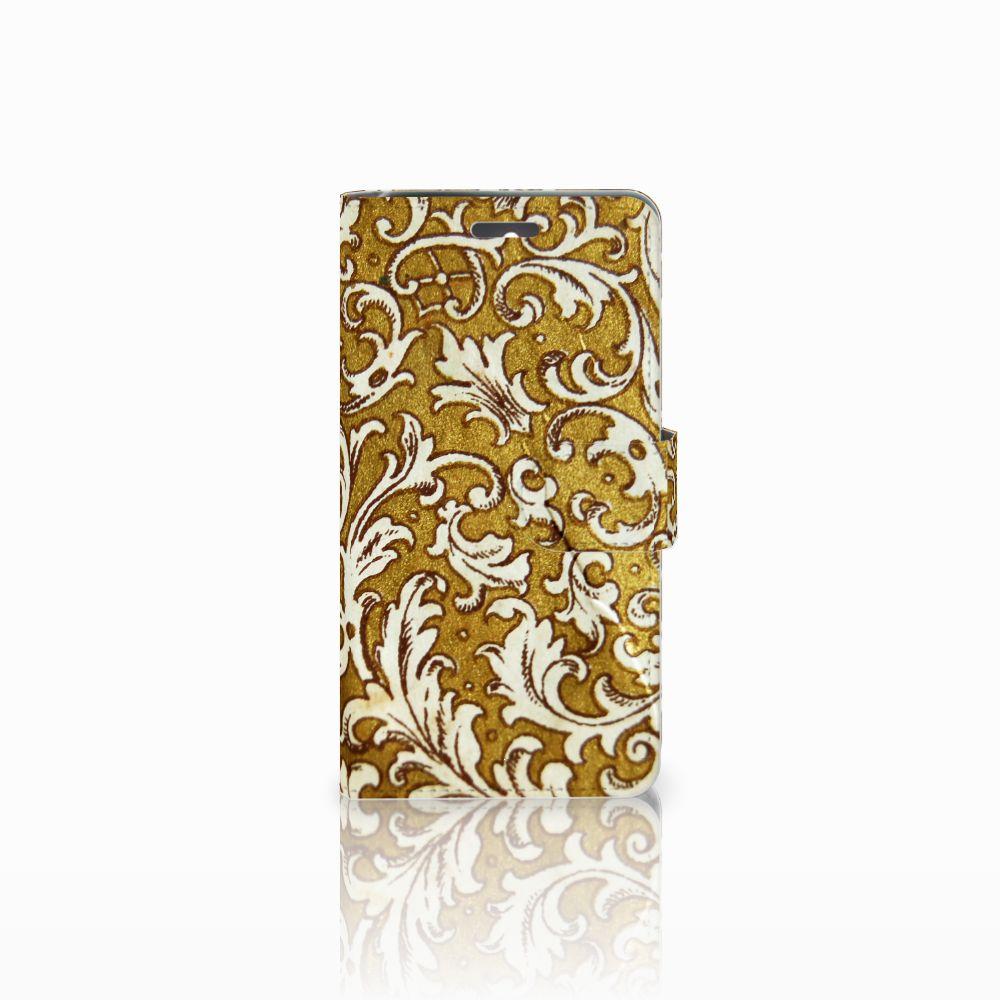 Wallet Case Lenovo K6 Barok Goud