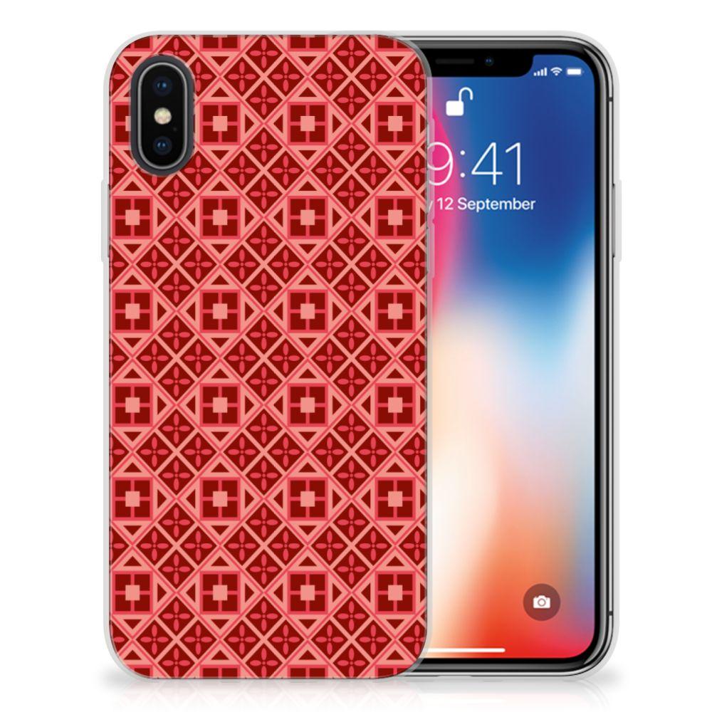 Apple iPhone X | Xs TPU bumper Batik Rood