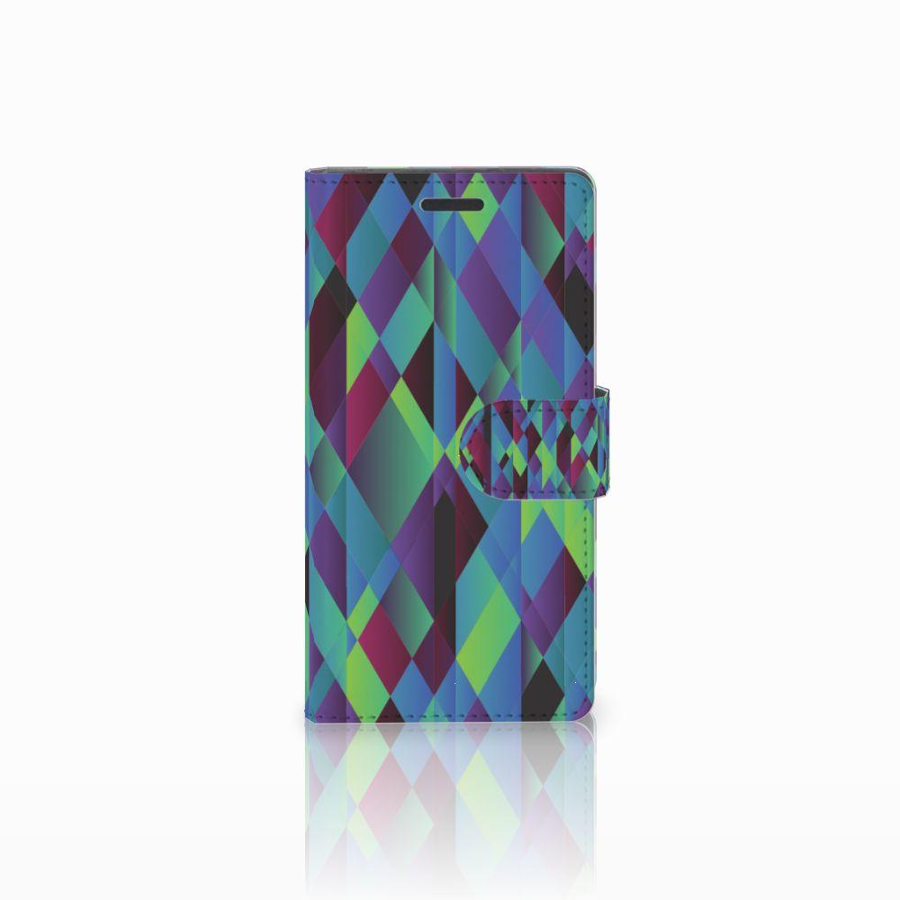Nokia Lumia 830 Bookcase Abstract Green Blue