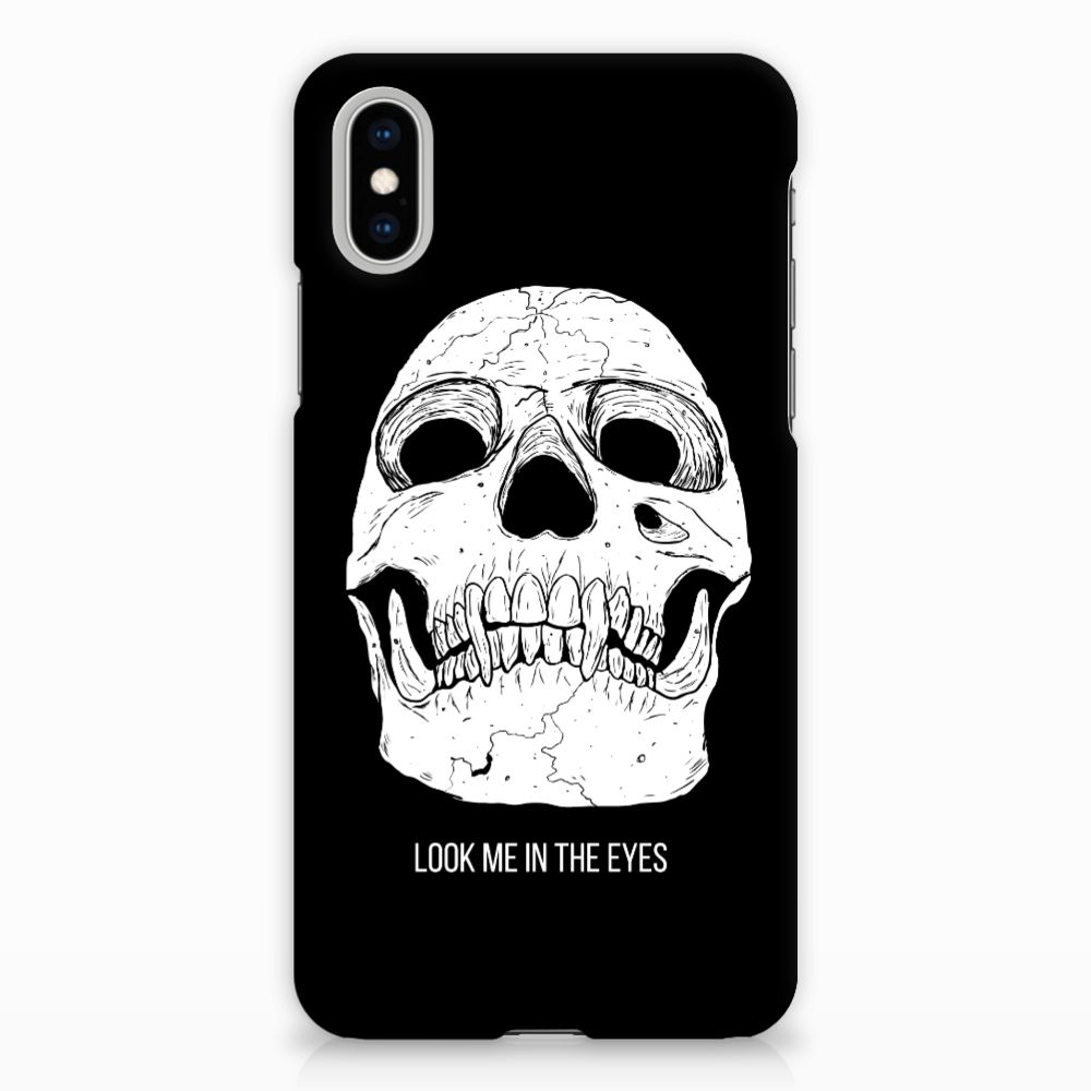 Apple iPhone X | Xs Uniek Hardcase Hoesje Skull Eyes
