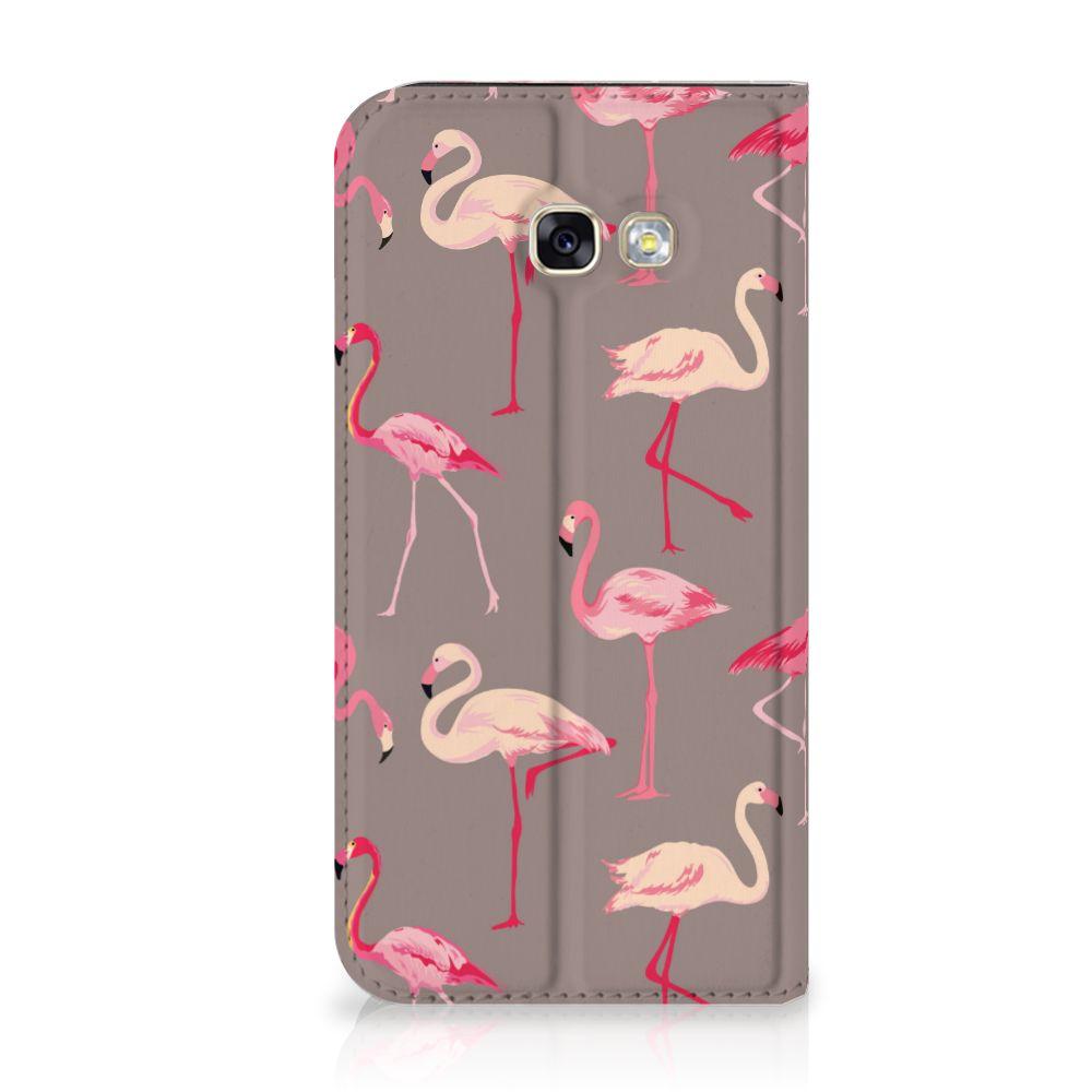 Samsung Galaxy A5 2017 Uniek Standcase Hoesje Flamingo