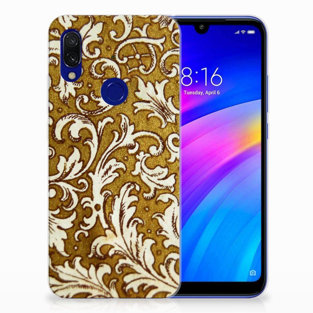 Siliconen Hoesje Xiaomi Redmi 7 Barok Goud