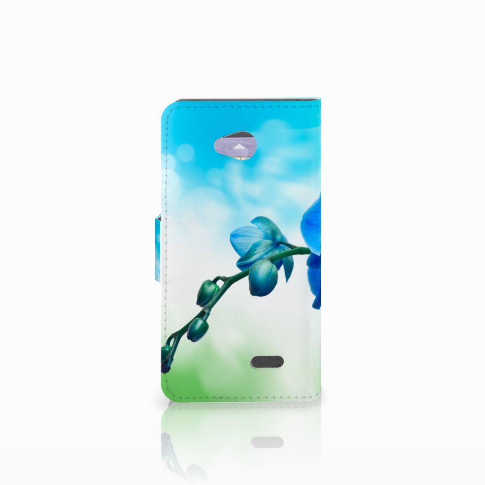 LG L70 Hoesje Orchidee Blauw