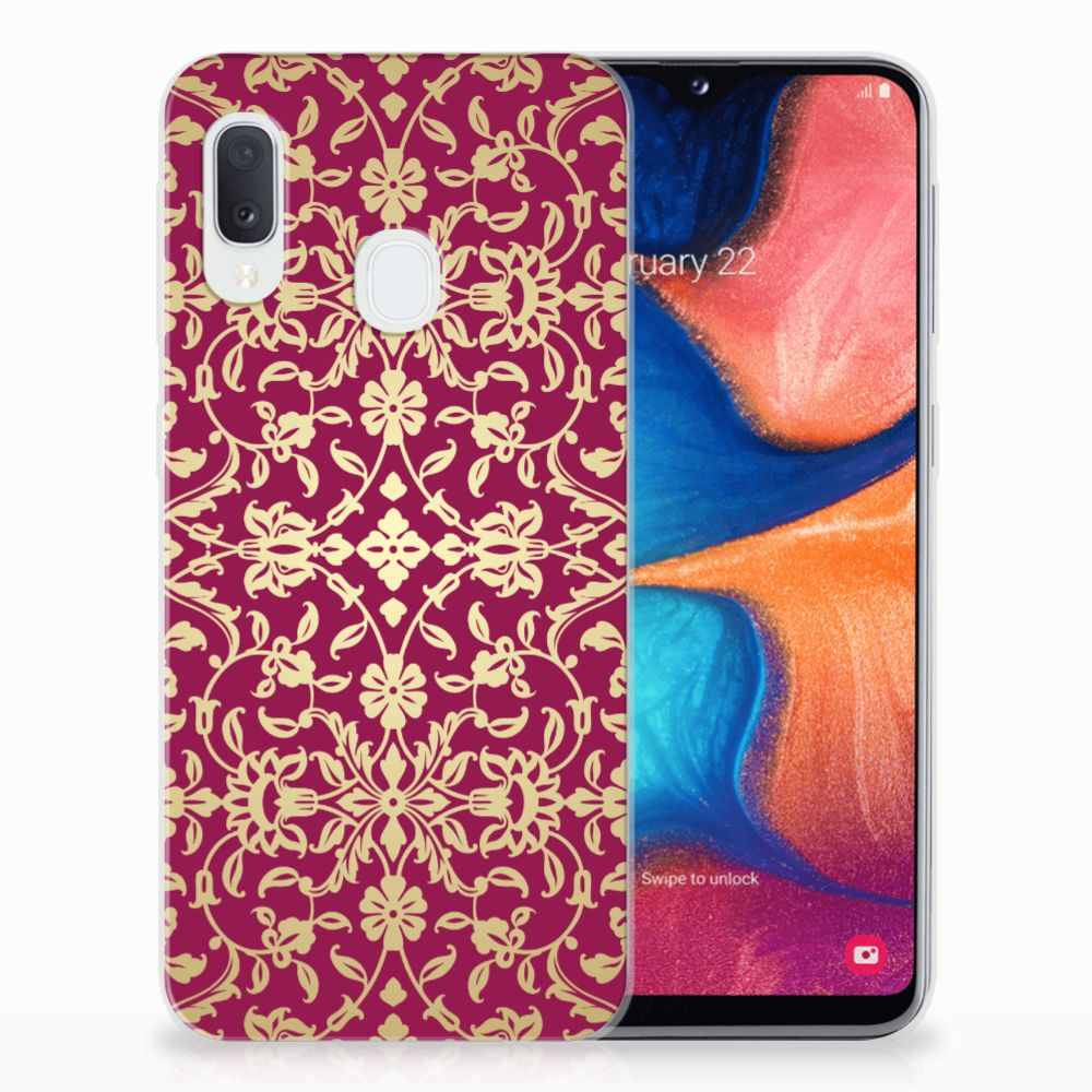 Siliconen Hoesje Samsung Galaxy A20e Barok Pink