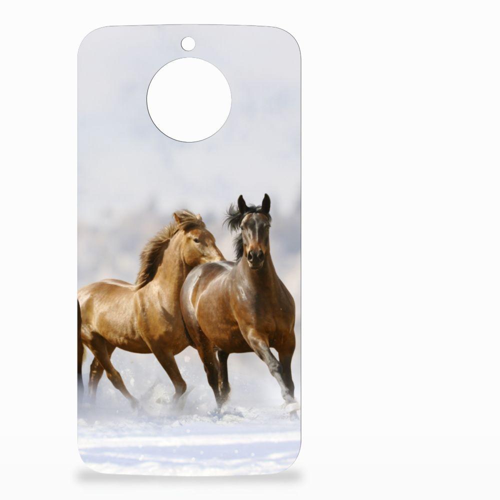 Motorola Moto G5S Uniek TPU Hoesje Paarden
