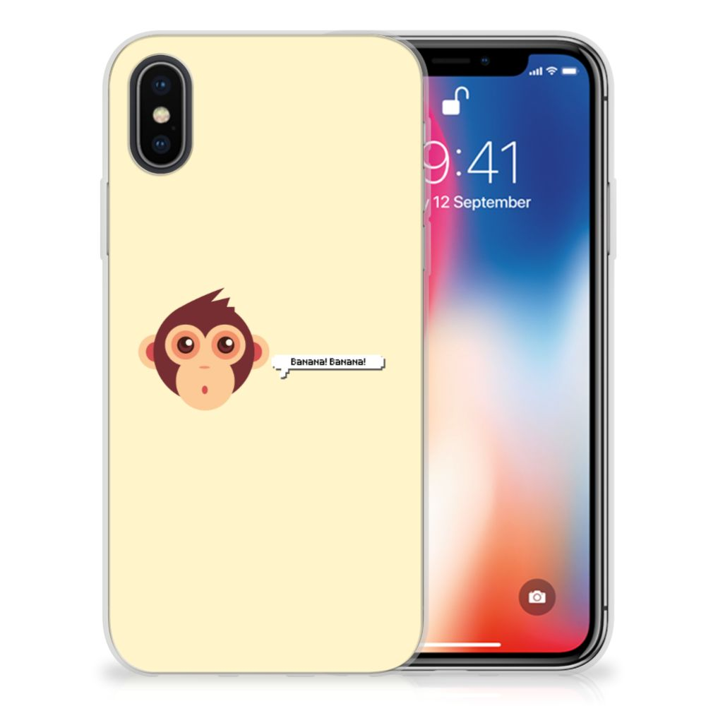 Apple iPhone X | Xs Telefoonhoesje met Naam Monkey