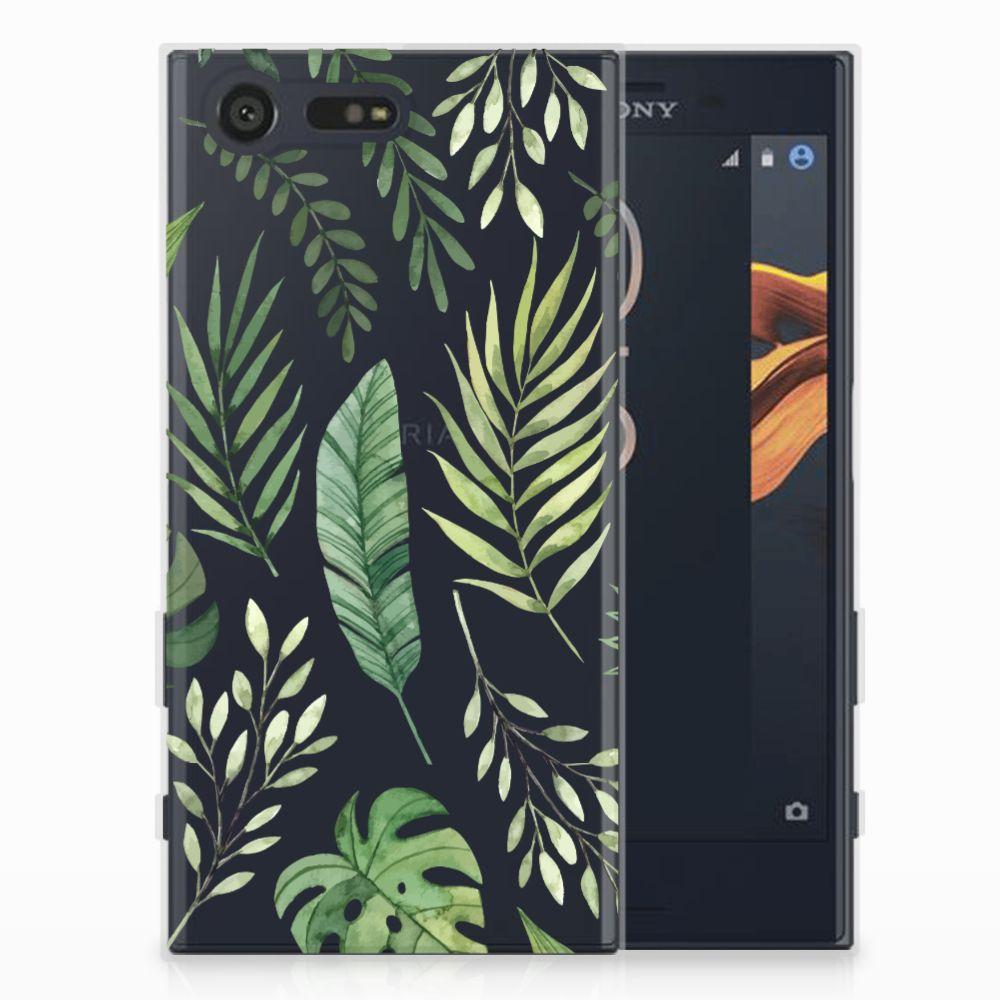 Sony Xperia X Compact Uniek TPU Hoesje Leaves