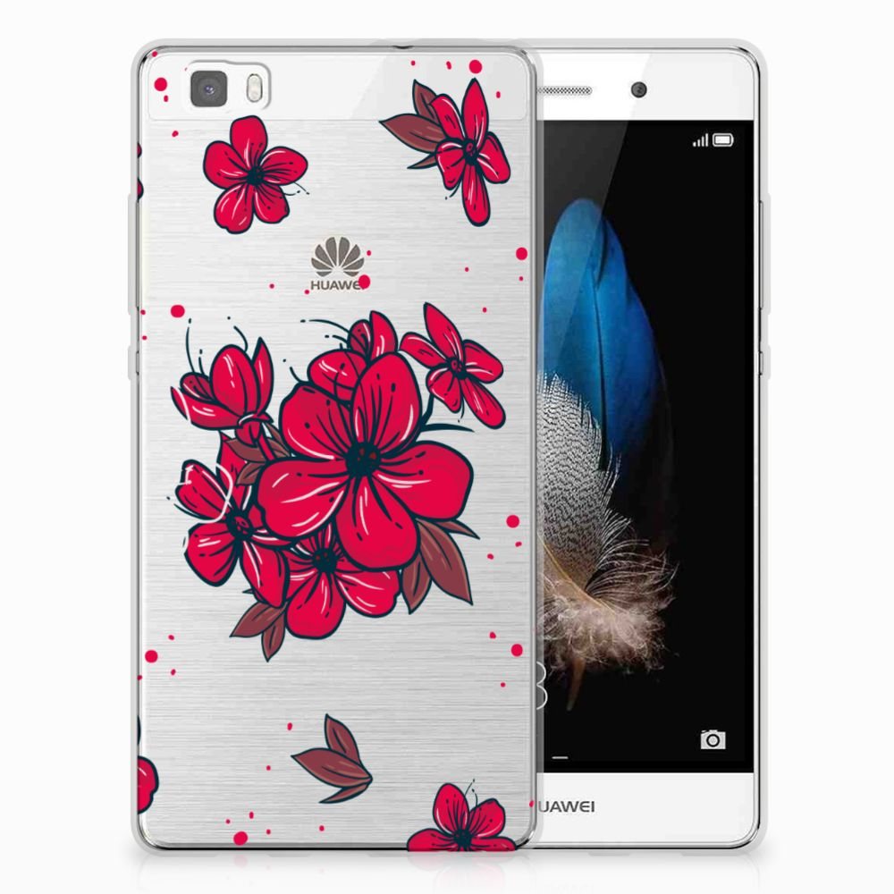 Huawei Ascend P8 Lite TPU Hoesje Design Blossom Red