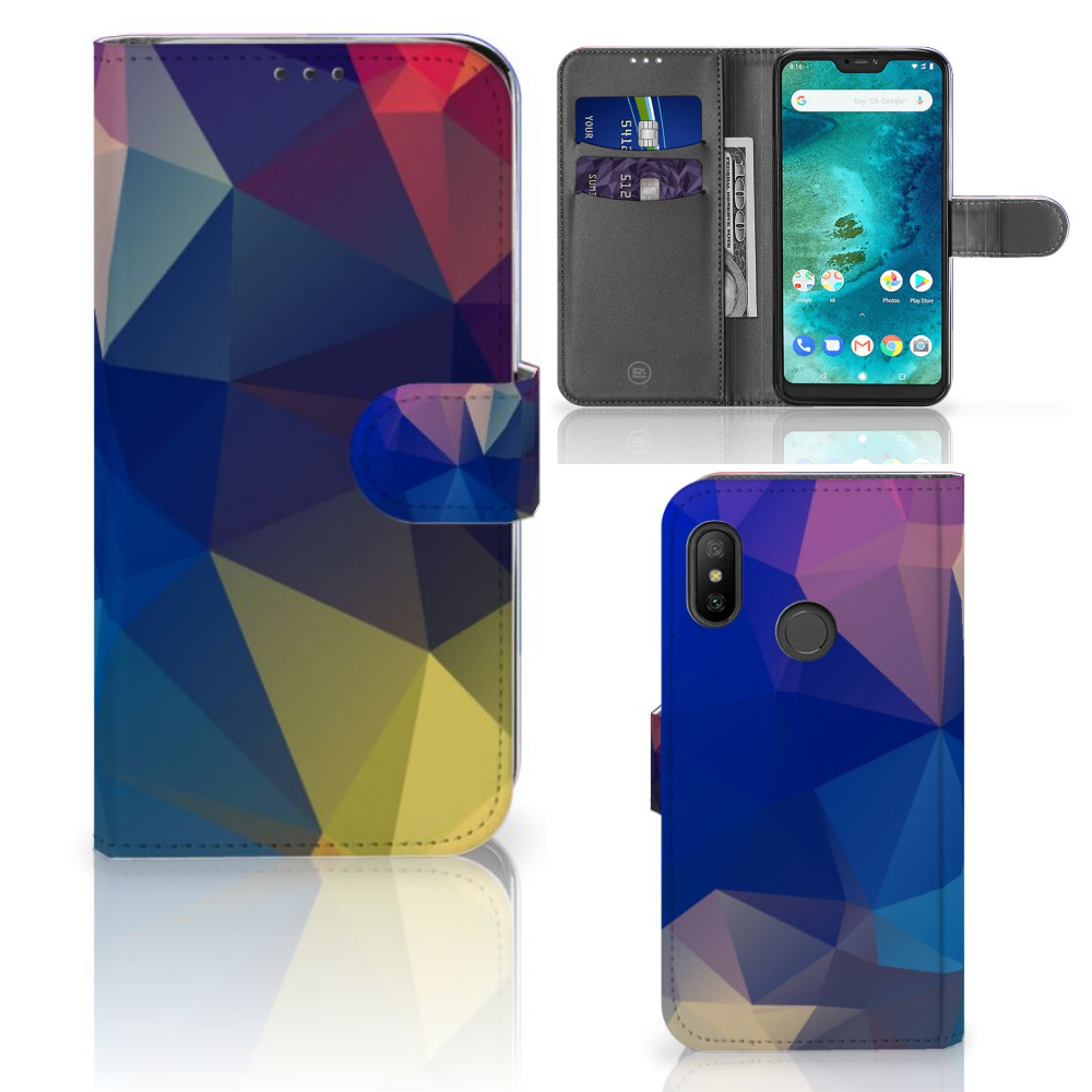 Xiaomi Mi A2 Lite Bookcase Polygon Dark