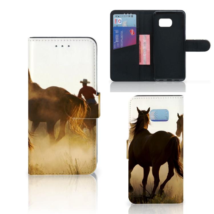 Samsung Galaxy S7 Edge Telefoonhoesje met Pasjes Design Cowboy