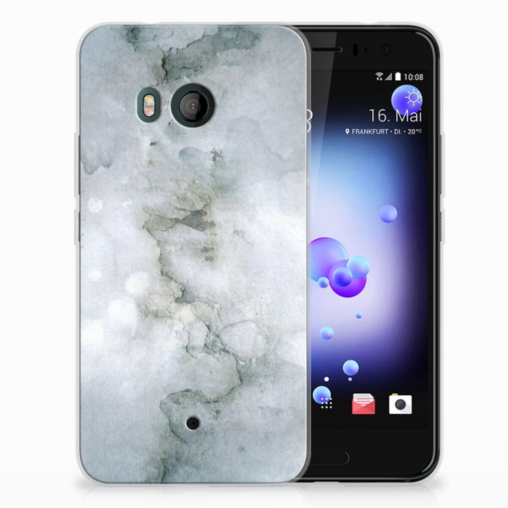 HTC U11 Uniek TPU Hoesje Painting Grey