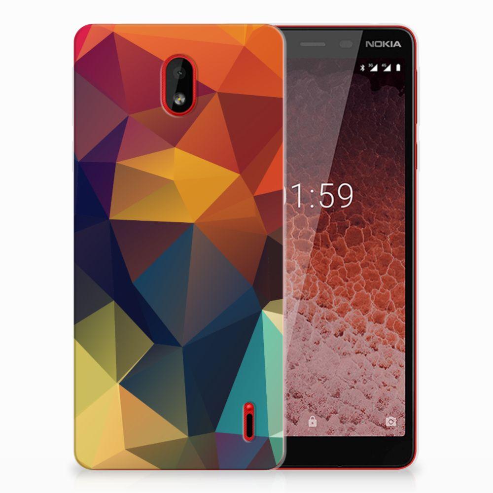 Nokia 1 Plus TPU Hoesje Polygon Color