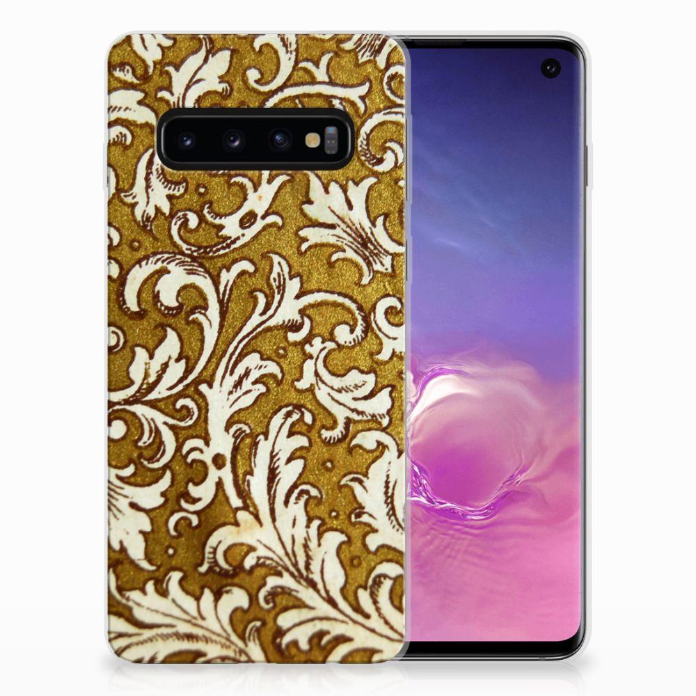 Siliconen Hoesje Samsung Galaxy S10 Barok Goud