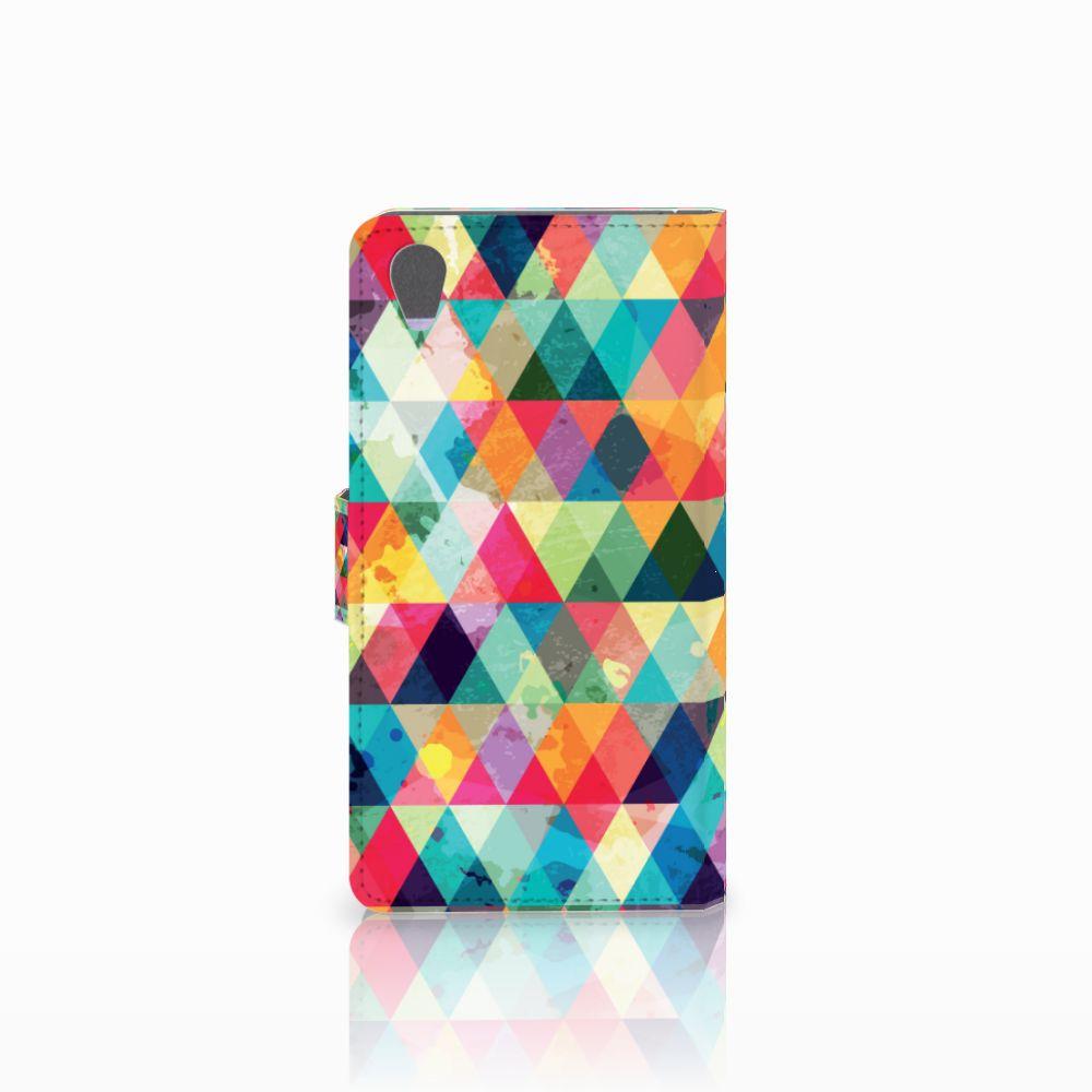 Sony Xperia Z1 Telefoon Hoesje Geruit