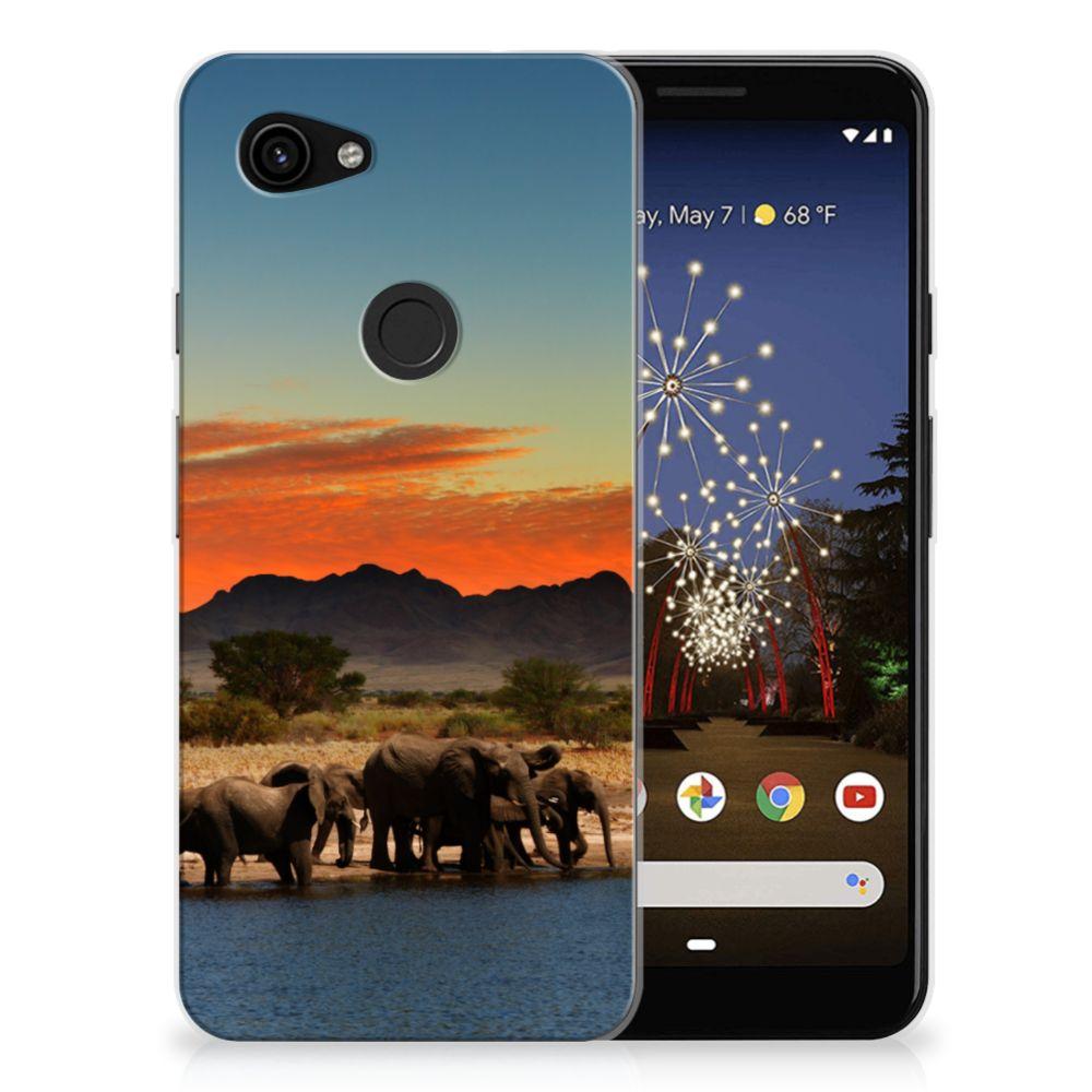 Google Pixel 3A TPU Hoesje Olifanten