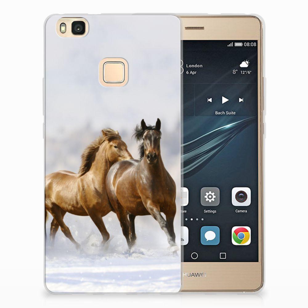 Huawei P9 Lite Uniek TPU Hoesje Paarden