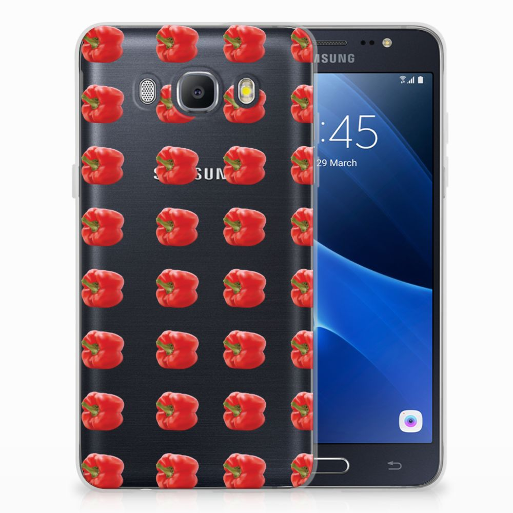 Samsung Galaxy J5 2016 Siliconen Case Paprika Red
