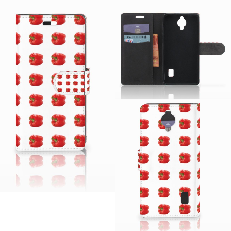 Huawei Y635 Book Cover Paprika Red