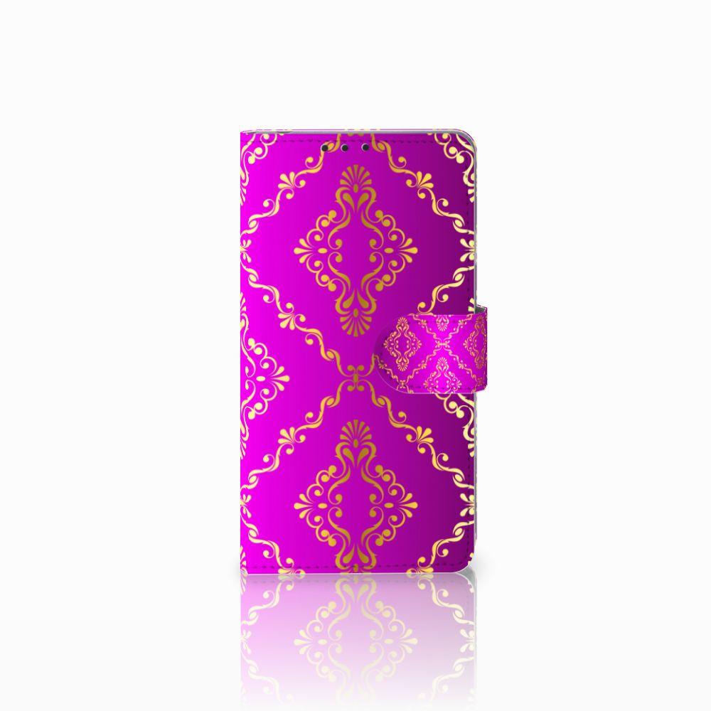 Sony Xperia Z1 Uniek Boekhoesje Barok Roze