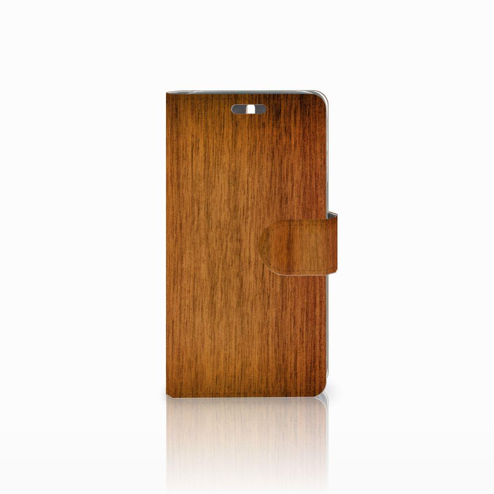 Huawei Y625 Uniek Boekhoesje Donker Hout