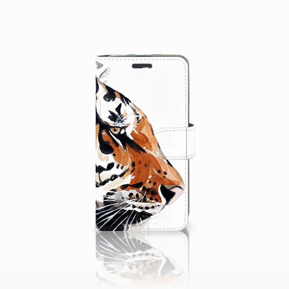 Acer Liquid Z520 Uniek Boekhoesje Watercolor Tiger