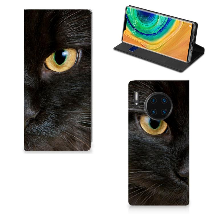 Huawei Mate 30 Pro Hoesje maken Zwarte Kat