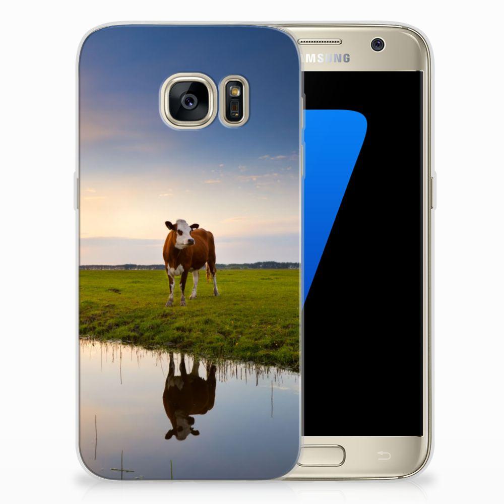 Samsung Galaxy S7 TPU Hoesje Design Koe